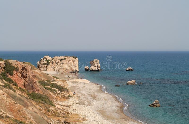 El lugar de nacimiento del aphrodite en Paphos, Chipre fotos de archivo