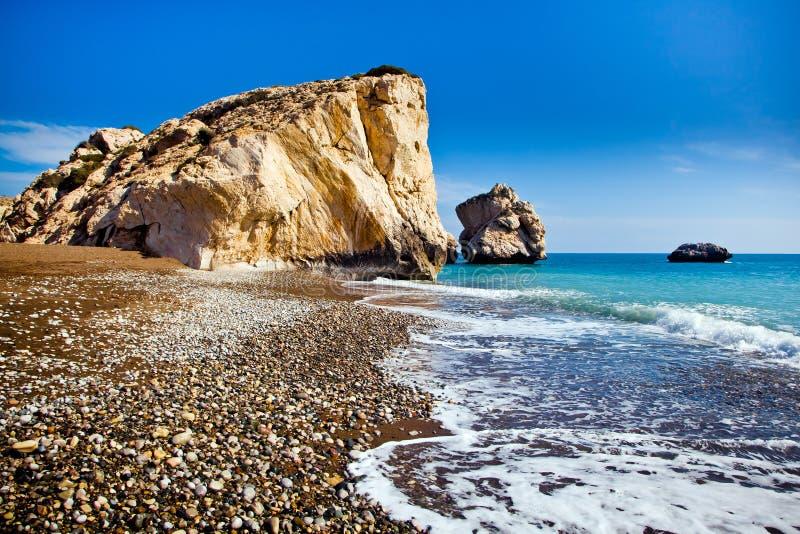 El lugar de nacimiento legendario del Aphrodite en Paphos, Chipre foto de archivo libre de regalías