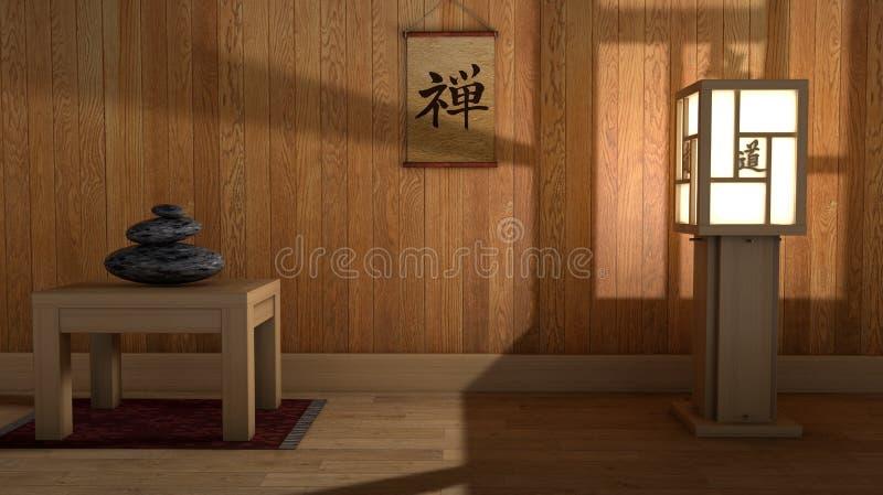 El lugar del zen para se relaja stock de ilustración