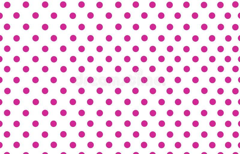 El lunar de color rosa oscuro con el fondo blanco stock de ilustración