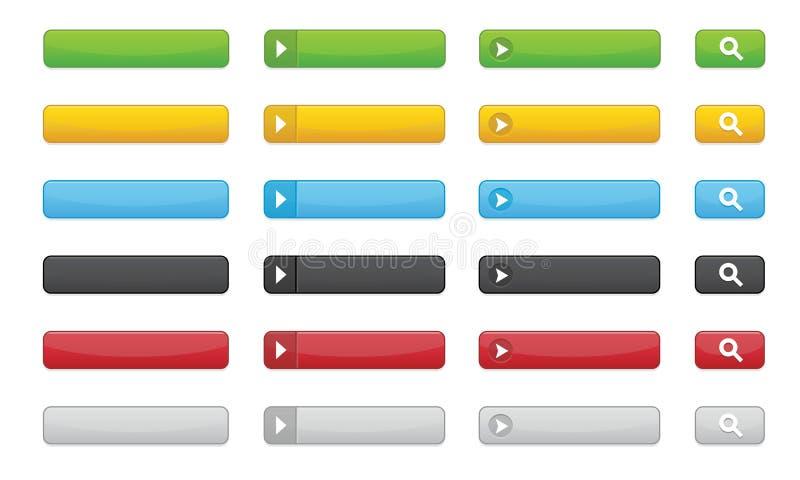 El lustre abotona (redondeado) stock de ilustración