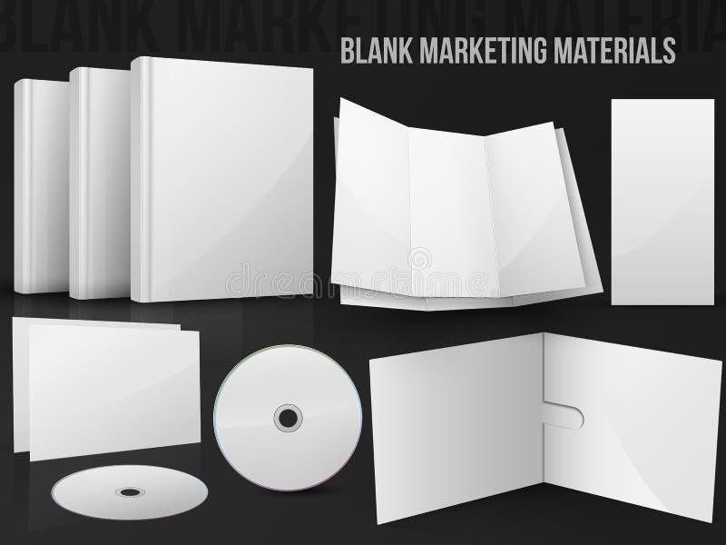 Materiales en blanco del márketing de la oficina stock de ilustración