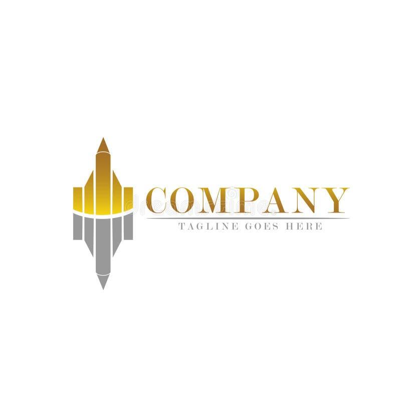 El márketing y el negocio financian la plantilla del logotipo - vector el ejemplo del concepto ilustración del vector