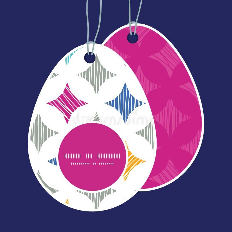 El mármol colorido del vector texturizado teja el huevo de Pascua libre illustration