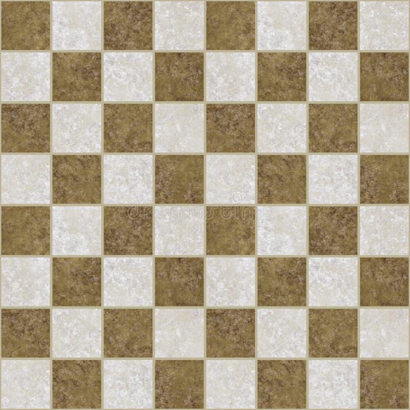 El mármol embaldosó el suelo checkered   ilustración del vector