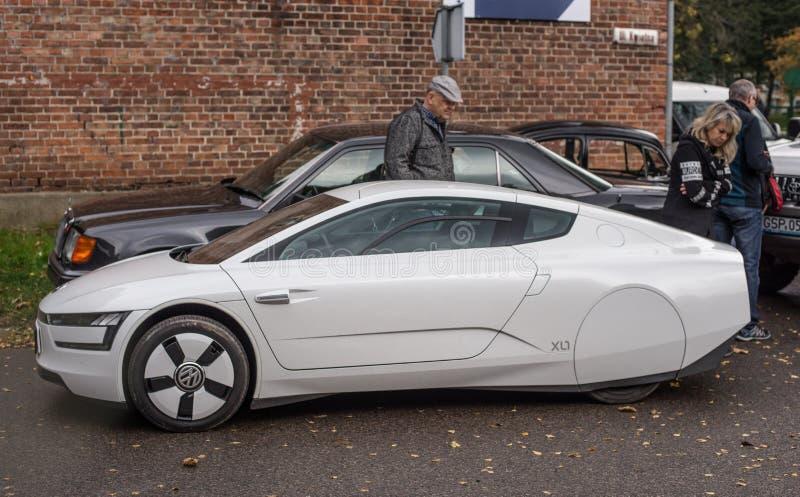 El más nuevo desigh eléctrico del espacio del vehículo de Volkswagen foto de archivo libre de regalías