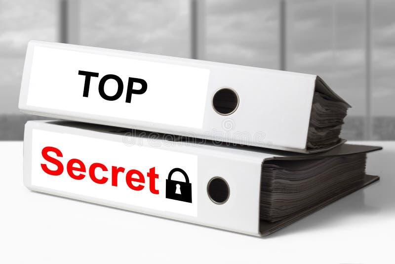 El máximo secreto de la carpeta documenta símbolo de la cerradura fotos de archivo libres de regalías