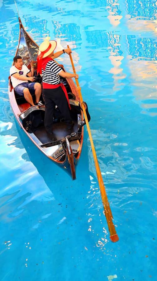 El Macao veneciano - paseo de la góndola fotos de archivo libres de regalías