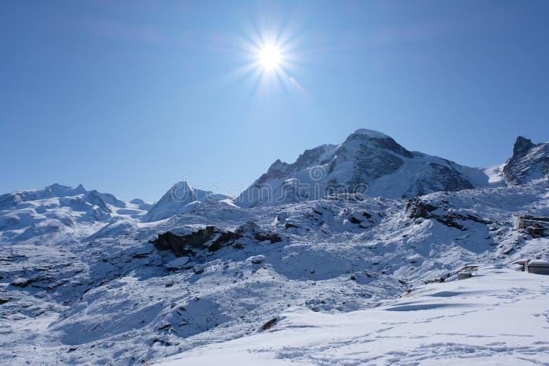 El macizo del Monte Rosa imagen de archivo libre de regalías