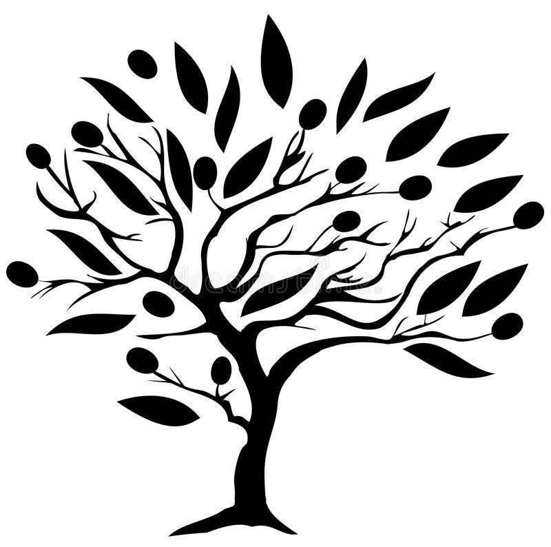 el Madrid molarnej noc oliwny sceny drzewo ilustracja wektor