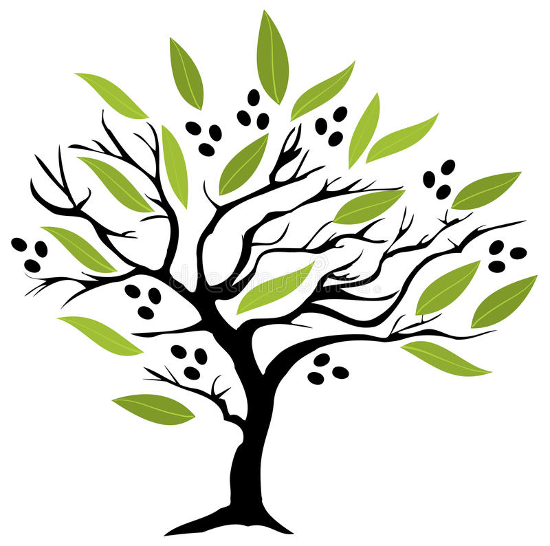 el Madrid molarnej noc oliwny sceny drzewo ilustracji