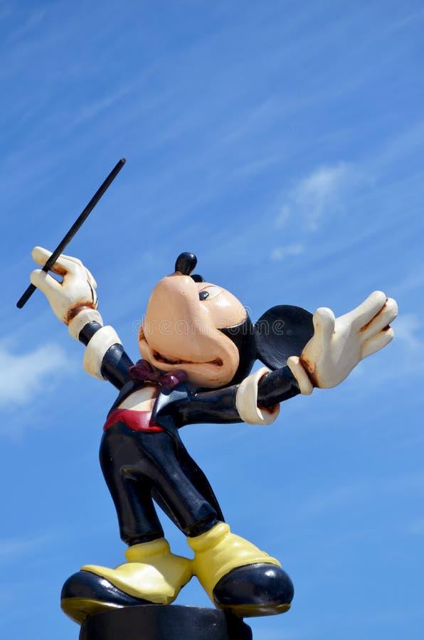 El maestro Disney de Mickey Mouse figura imagen de archivo