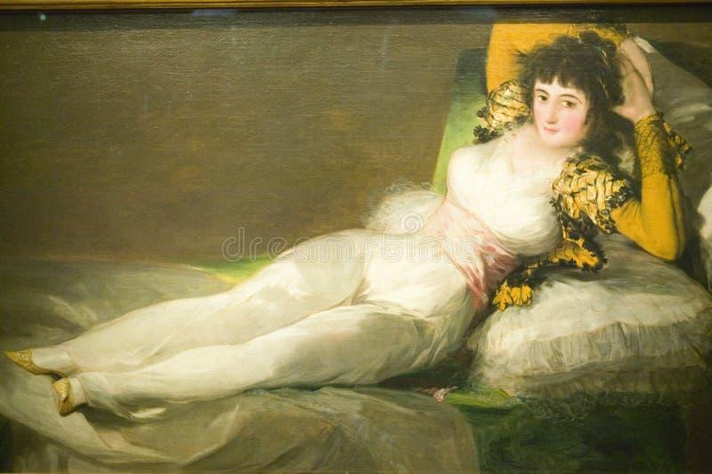 El Maja vestido, duquesa de Alba, por Francisco de Goya tal y como se muestra en del museo de Prado, museo de Prado, Madrid, Espa fotografía de archivo libre de regalías