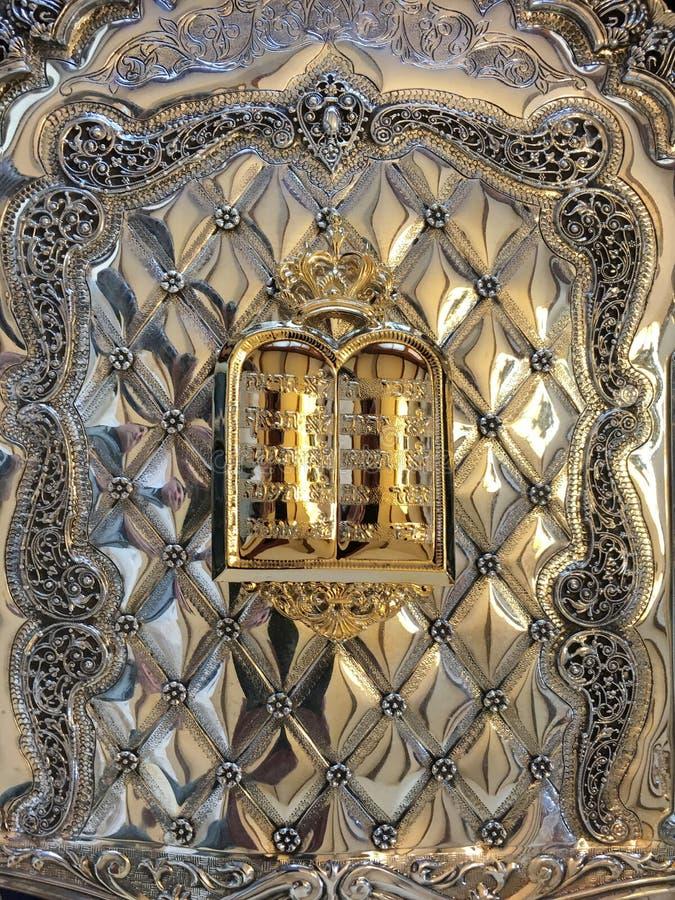 El mandamiento diez en un libro de Torah foto de archivo libre de regalías