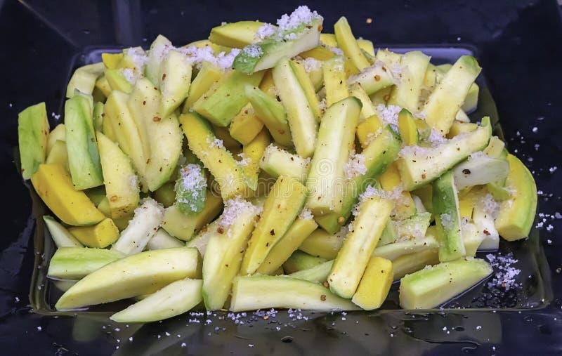 mango verde con sal calorias