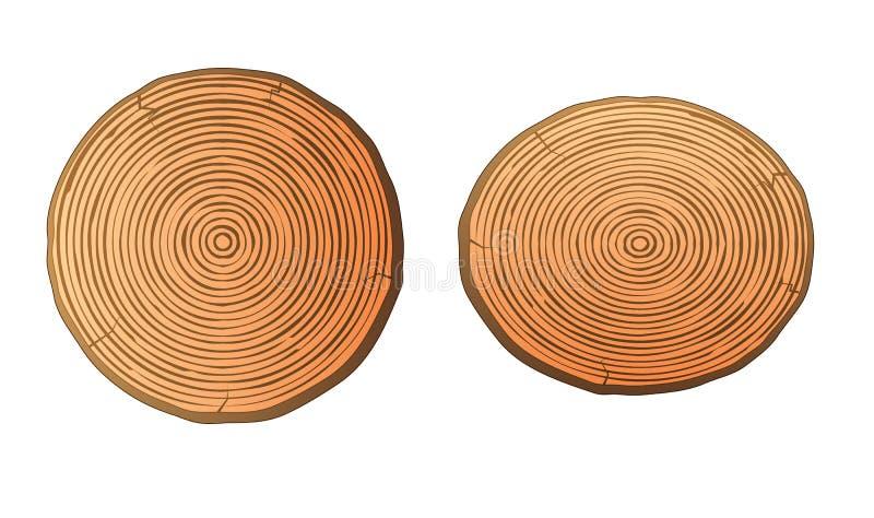 El mango Stumps la madera limpia stock de ilustración