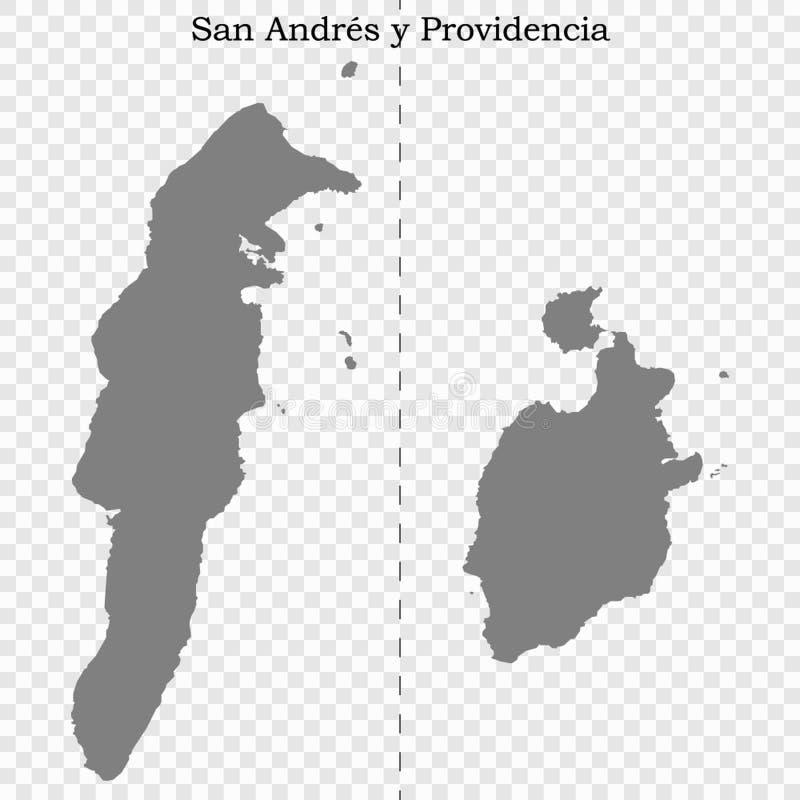 El mapa de alta calidad es un estado de Colombia libre illustration