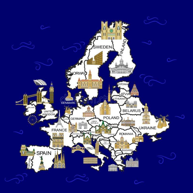 El mapa de Europa libre illustration