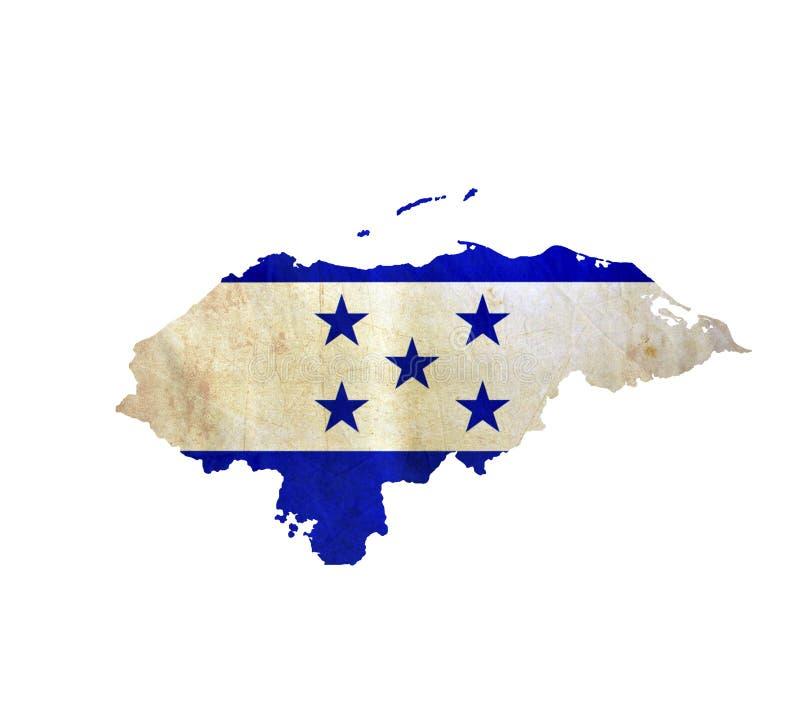 El mapa de Honduras aisló fotografía de archivo libre de regalías