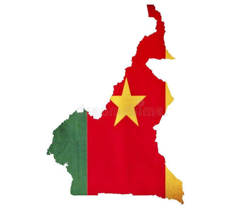 El mapa del Camerún aisló imágenes de archivo libres de regalías