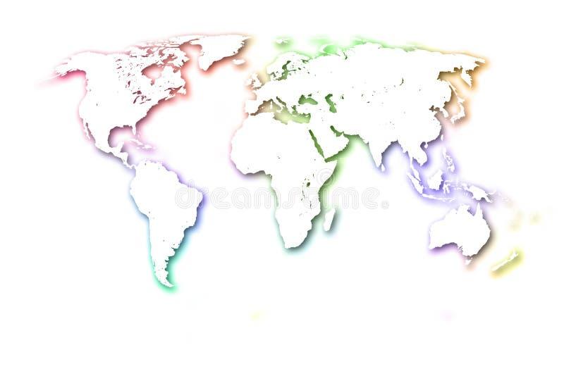 El mapa del mundo colorido. fotografía de archivo