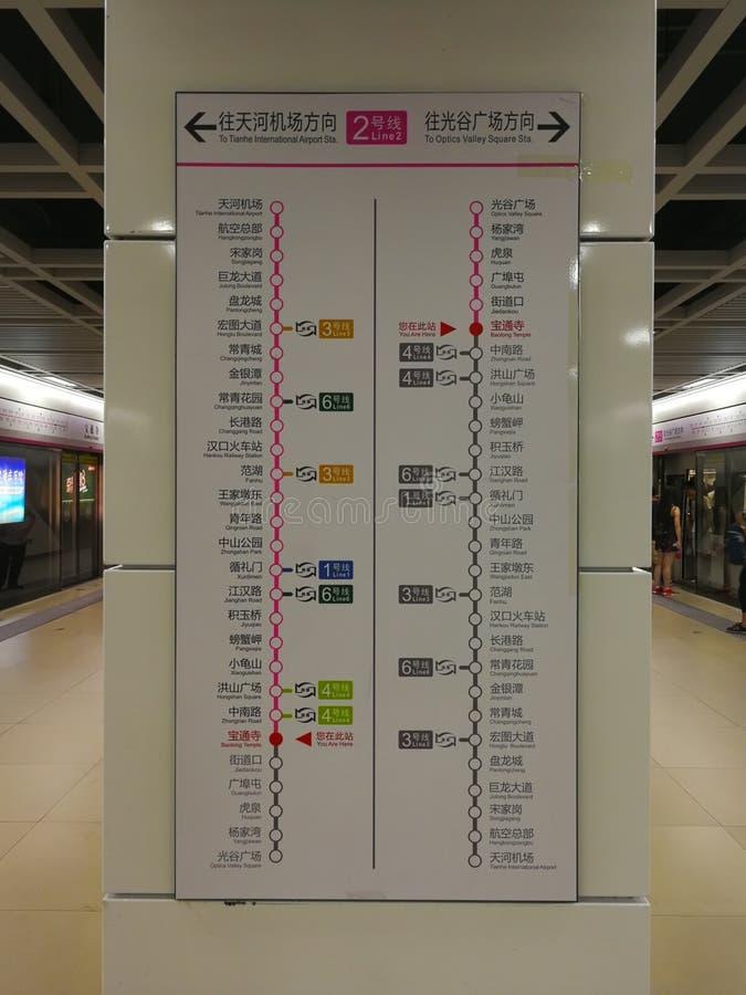El mapa itinerario del metro fotos de archivo libres de regalías