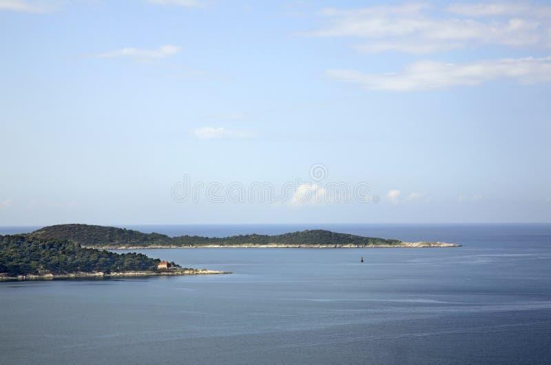 El mar adriático cerca Plat dalmatia Croacia fotografía de archivo