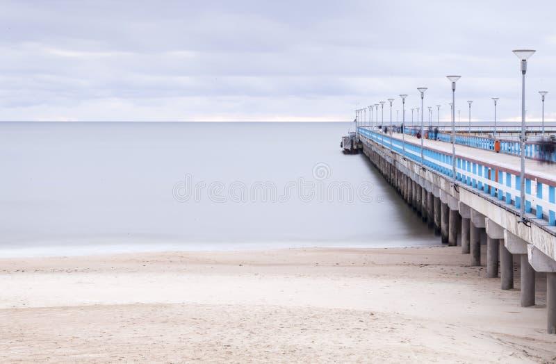 El mar Báltico y un embarcadero foto de archivo libre de regalías