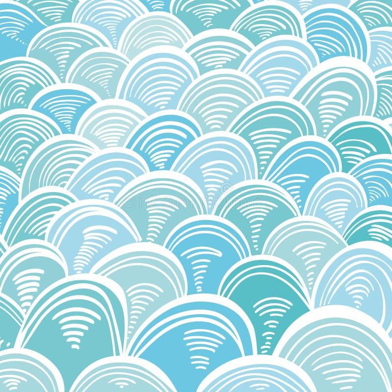 El mar de Absract agita el ornamento del Griego de Minoan ilustración del vector