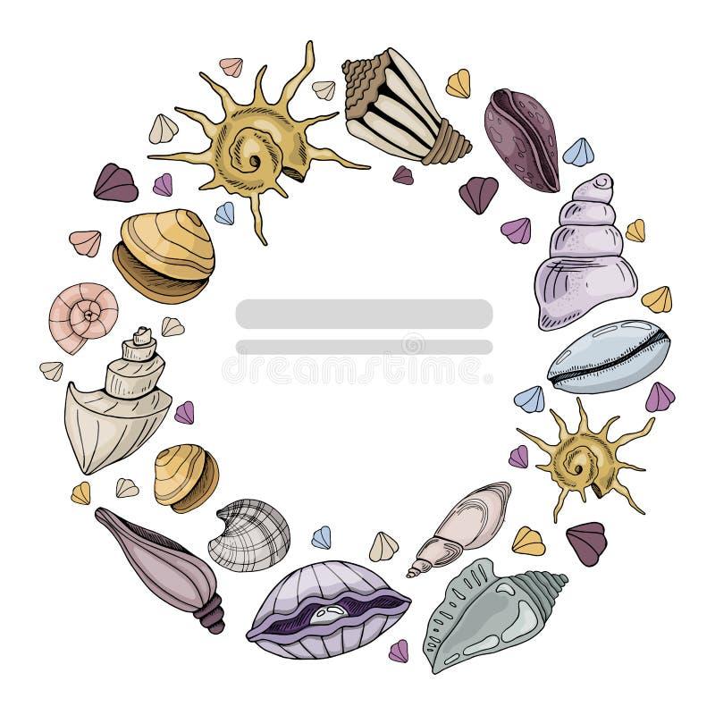 El mar descasca vector ilustración del vector