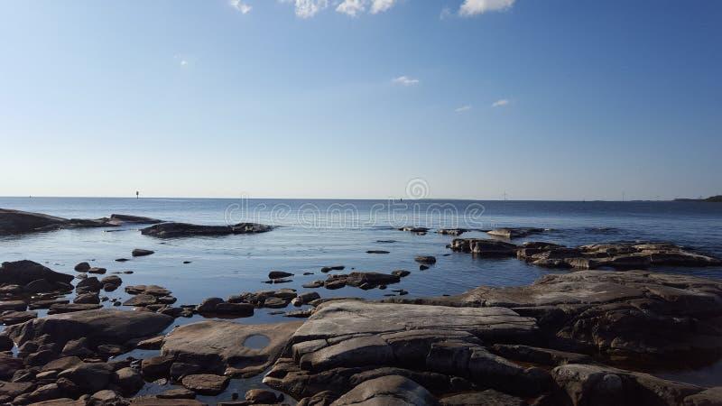 El mar empiedra el papel pintado imágenes de archivo libres de regalías