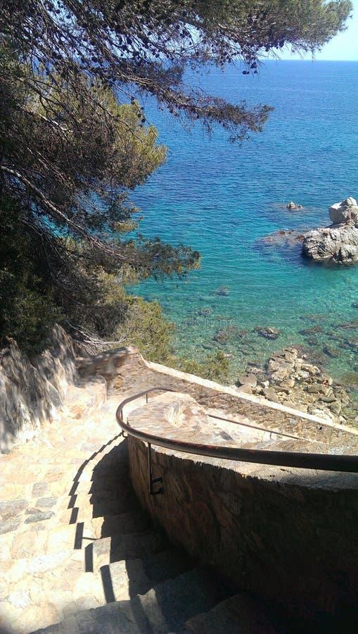 El mar en Loret de Mar fotos de archivo libres de regalías