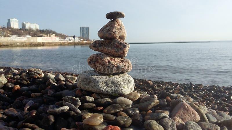 El mar está en calma completa Calma en el mar de la mañana fotografía de archivo libre de regalías
