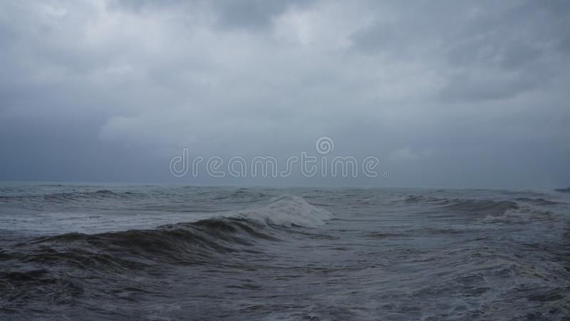 El Mar Negro áspero imágenes de archivo libres de regalías