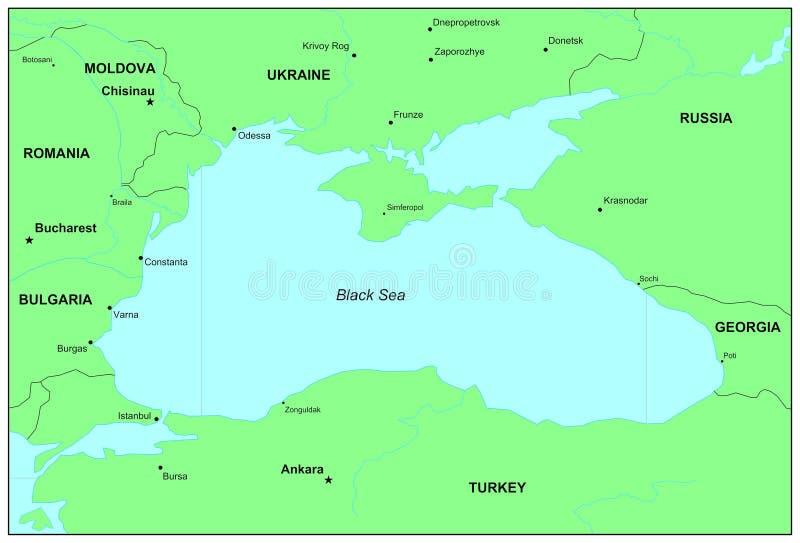 El Mar Negro stock de ilustración