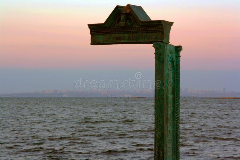 El Mar Negro, Odessa, Ucrania, puesta del sol fotos de archivo libres de regalías
