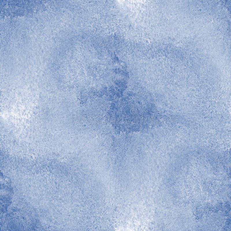 El mar pintado a mano del agua de la textura inconsútil agita arte azul del fondo de la pintura abstracta de la acuarela del océa stock de ilustración