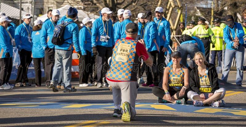 El maratón 2014 de Boston fotos de archivo