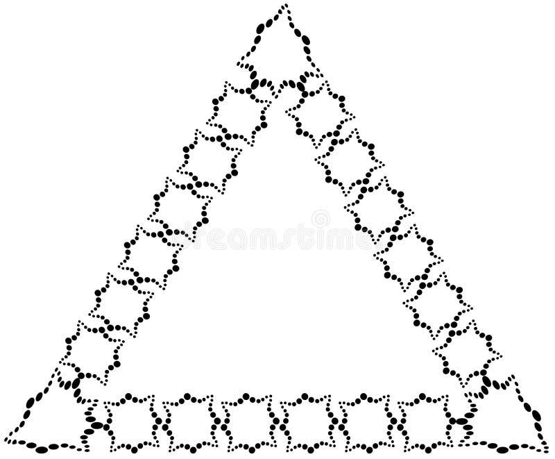 El Marco Bajo La Forma De Triángulo Hecho De Elementos Decorativos ...