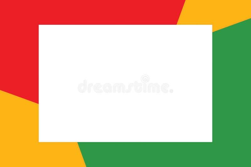 El marco blanco del rectángulo en los cosméticos de papel suaves en colores pastel coloridos del fondo para la copia espacia el m libre illustration