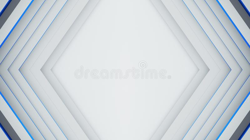 El marco blanco y azul 3D del rombo rinde libre illustration