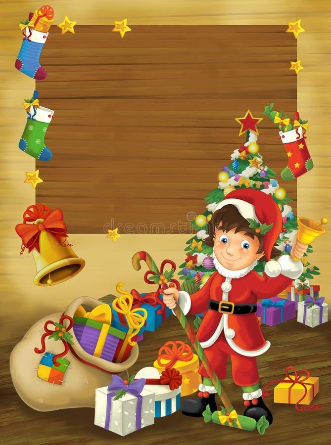 El marco de la feliz Navidad - ejemplo para los niños libre illustration