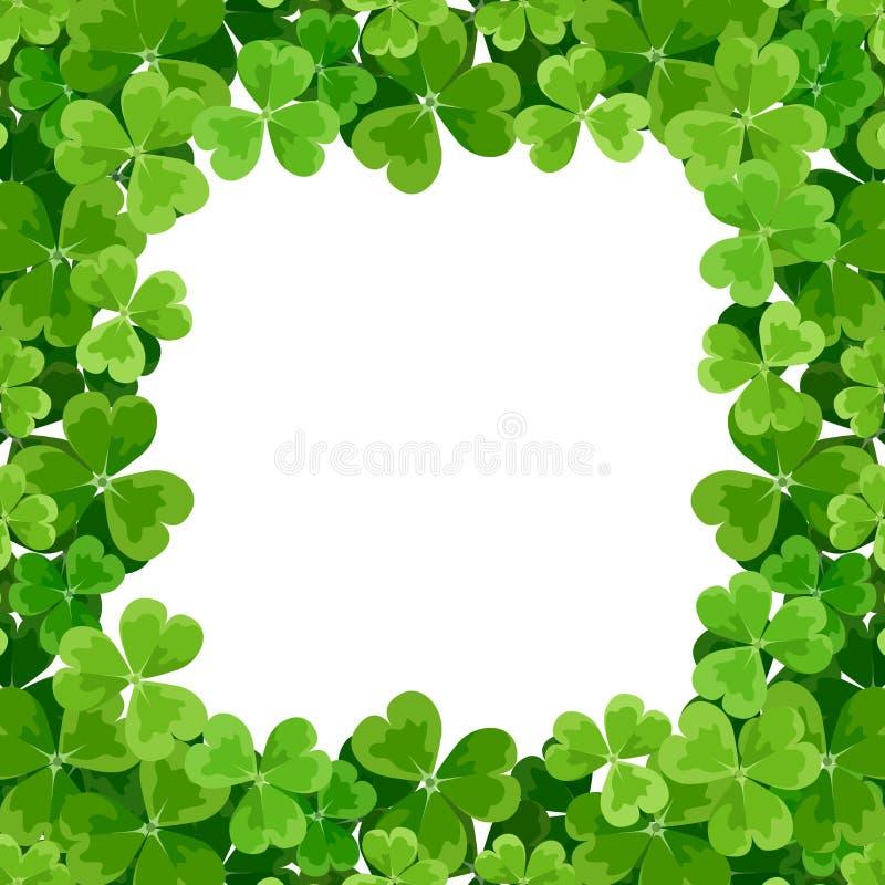 El marco de St Patrick con el trébol. stock de ilustración