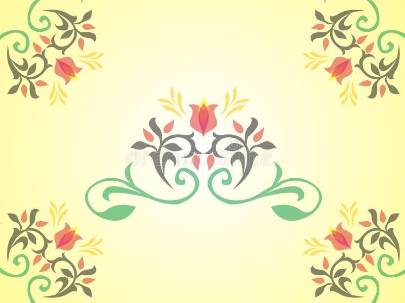 El marco del arte florece vecor foto de archivo libre de regalías