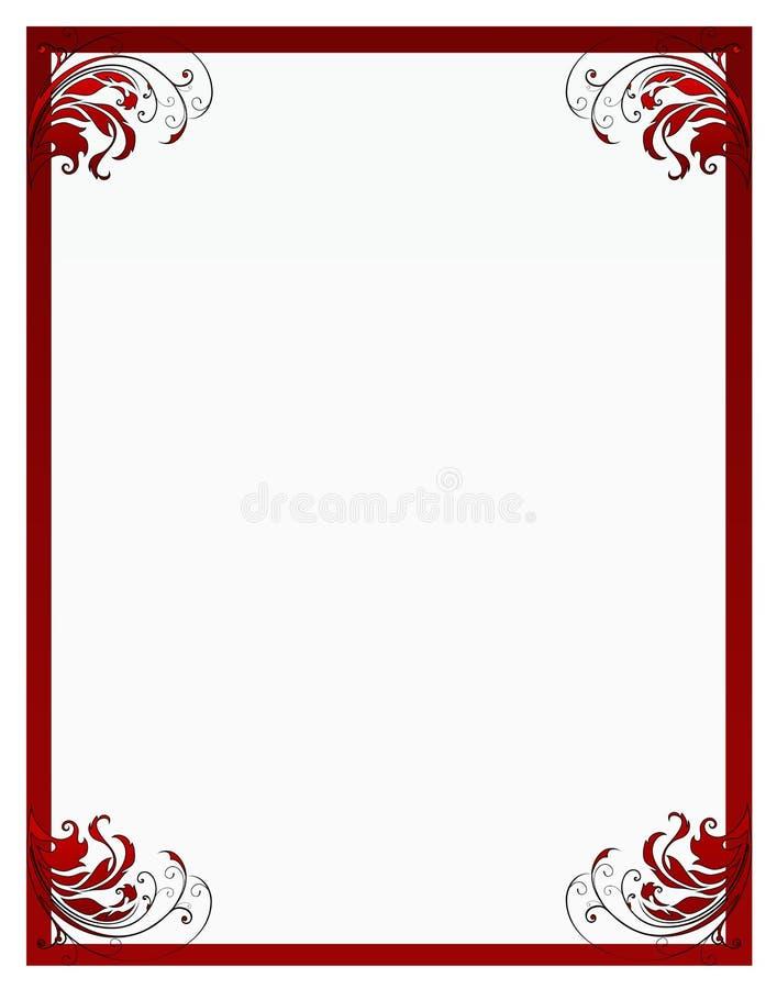El marco floral de la tarjeta del día de San Valentín ilustración del vector