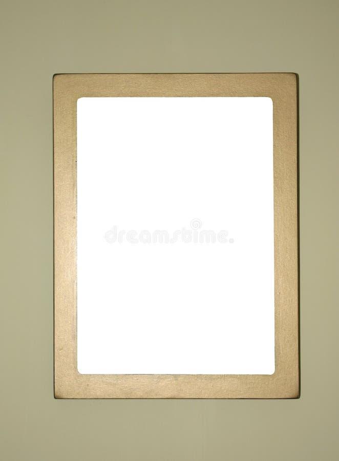 El marco gold-plated simple, alista para completar imagenes de archivo