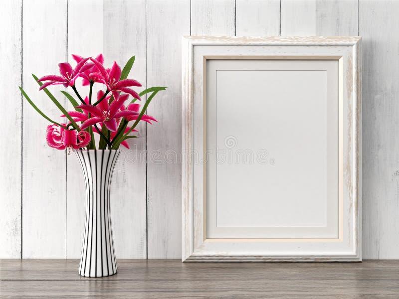 El marco moderno vacío del estilo, 3D rinde foto de archivo
