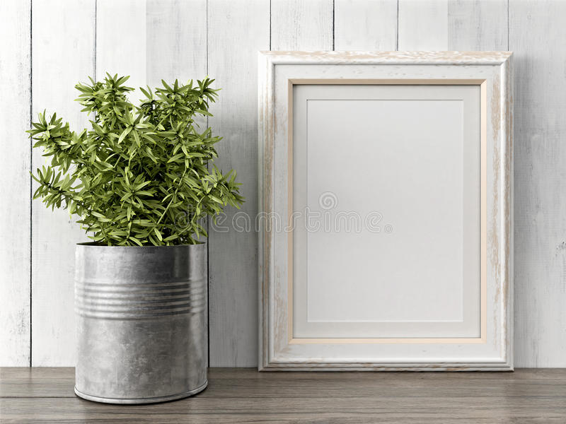 El marco moderno vacío del estilo, 3D rinde imagenes de archivo