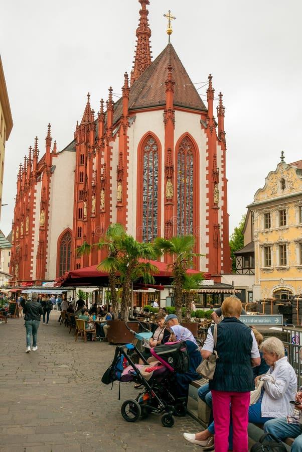 El Marienkapelle en Würzburg fotos de archivo