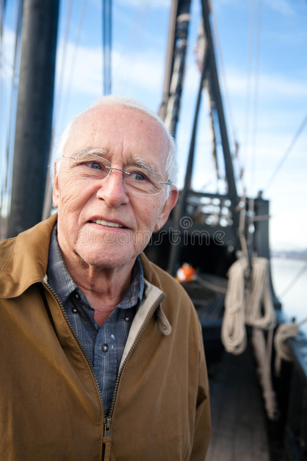 El marinero del viejo hombre fotografía de archivo libre de regalías